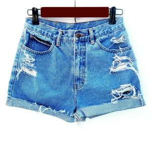 Vintage Jordache High Waisted Distressed Shorts
